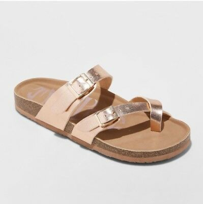 5bc7e2610a15 Mad Love Prudence Footbed Sandals ~ Rose Gold - Women s Size 10 New ~ Fast  Ship