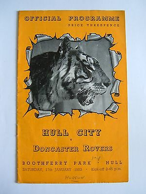 Hull City v Doncaster Rovers 1952/1953 - Football Programme