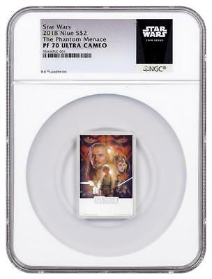 2018 Niue Silver $2 - Star Wars - The Phantom Menace - PF70 UC - NGC Coin