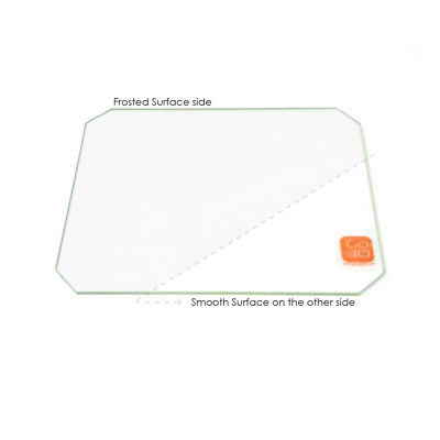 257mm x 229mm Borosilicate Glass Plate Bed w// Flat Polished Edge for 3d print