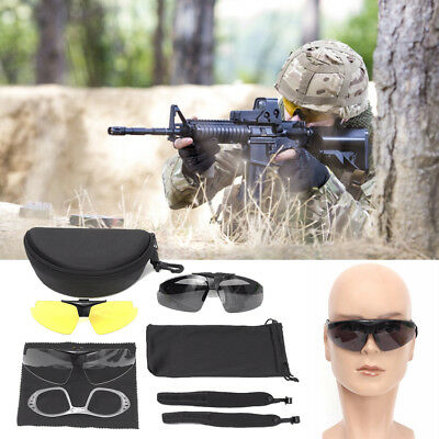 a5e341f997 Tactical Goggles Set Ballistic 3 Lens Sonnenbrillen für Army Eye Shield  Glasses