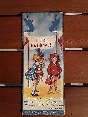 Ancien Marque Page Loterie Nationale clarital Louis muller