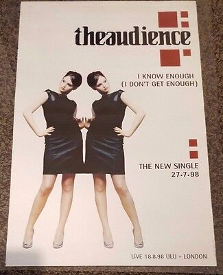 THE AUDIENCE - I Know Enough - Single Promotional Poster *RARE*