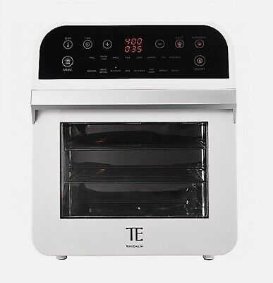 Todd English 1600W 12.7 qt Multi Function Air Fryer Oven w/ Accessories in White