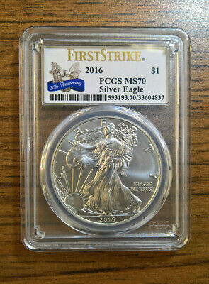 2016 American Silver Eagle PCGS Certified MS 70 First Strike