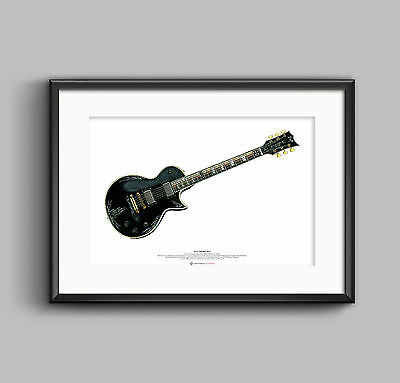 James Hetfield's Jh-3 Guitar Póster Arte A2 Tamaño
