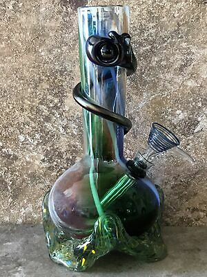 "New! Quality Soft 9"" Soft Glass Water Bong Downstem with Herb Bowl"