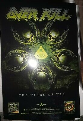 OVERKILL The WINGS OF WAR 11x17 Promotional album poster Over kill Thrash metal