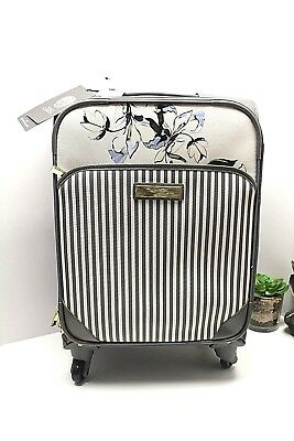 Vince Camuto 19-inch Expandable Spinner Carry-On Luggage Floral Grey NWT $320