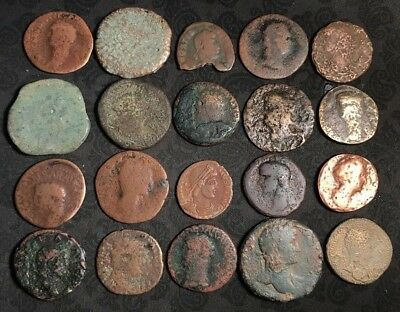 Ancient Roman Coins Various Sizes & Grades 1 lot of 20=$38.00 Less than $2 Each