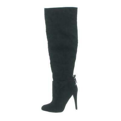 4a034087864 NINA WOMENS KEELY Black Suede Over-The-Knee Boots Shoes 5 Medium (B ...