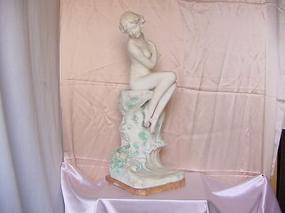 Antique Nouveau Era Nude Female Figure Old Italian Art Sculpture Vintage C1900
