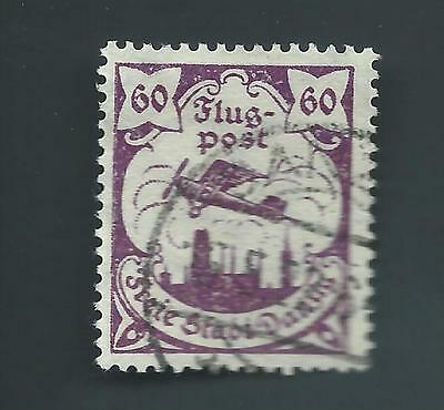 Danzig (Germany) 1923 Michel 113 Used VF CV 350 Euros Cat Flugpost Airmail
