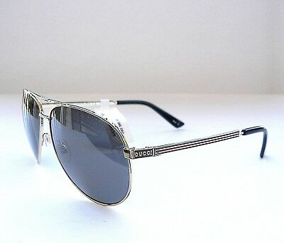 622ba3d4fc GUCCI GG0237S POLARIZED Aviator Gold Black Frame Grey Lens ...