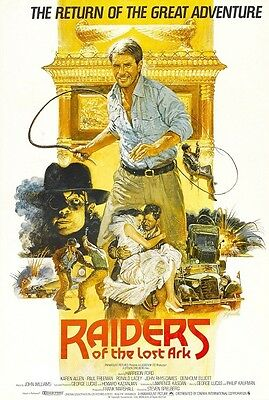 Raiders Of The Lost Ark movie poster (d) : 11 x 17 inches - Indiana Jones Poster