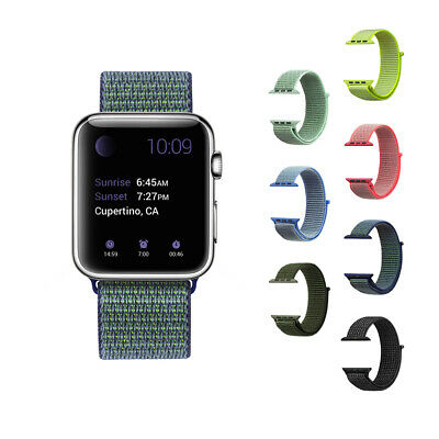 2x Nylon Sport Loop Watch Band 42mm/38mm for Men Wrist Strap Woven iWatch Series