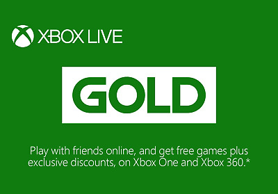 12 Month Microsoft Xbox Live Gold Membership Subscription Code Xbox One/Xbox 360