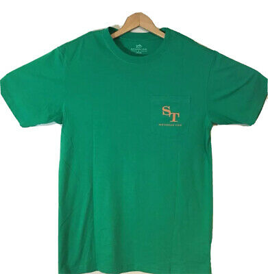 NEW Southern Tide Short Sleeve T-Shirt Front Pocket Green Mens Size Small