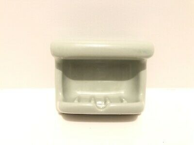 Vintage Ceramic Porcelain Light Green Bathroom Soap Dish Holder shower