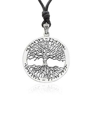 925 Sterling Silver Tree of Life Celtic Charm Necklace Pendant Jewelry
