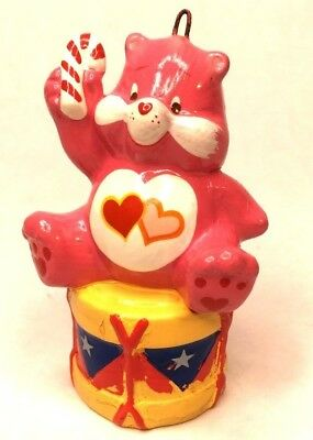 Vintage 1984 Christmas Tree Ornament Holiday Love A Lot Bear Sitting On A Drum