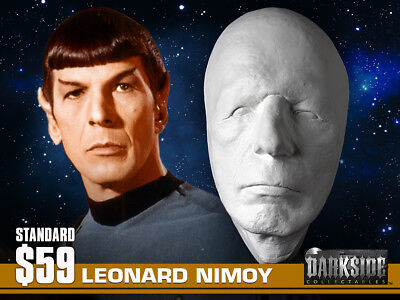 NEW LEONARD NIMOY SPOCK LIFE-SIZE Life Cast Life-Mask in Lightweight Resin