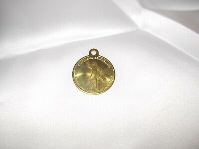 Credit Card Sentinel, Inc. Ring FOB Token Coin Brass Vintage Carol Stream IL.