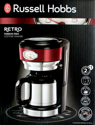 Russell Hobbbs 21710-56 Retro Ribbon Rouge Cafetière Thermo Neuf et Scellé