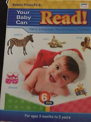 Your Baby Can Read 6 dvd's by Dr Robert Titzer, Ph.D. Early Language development