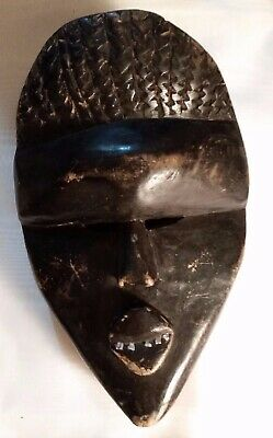 Antique Kono Tribal Mask Sierra Leon West Africa Hand Carved Painted Wood Rare
