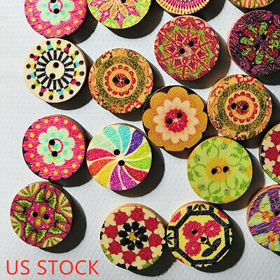 Wooden Buttons Mixed color dinosaur scrapbooking Kid/'s Crafts sewing  37mm