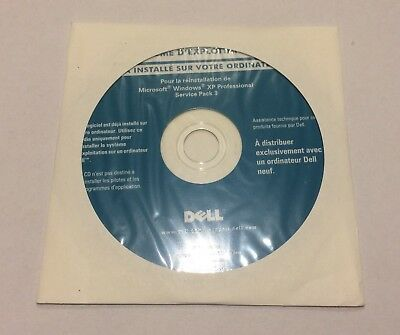 DVD d'installation windows XP PRO SP3 DELL FR NEUF