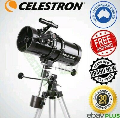 Celestron 127EQ PowerSeeker Telescope + Aluminum Tripod and Accessory Tray NEW