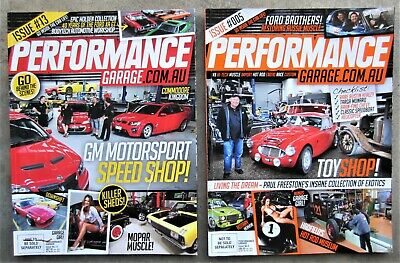 2x PERFORMANCE GARAGE MAGAZINES Ford Holden Valiant Muscle Street Classic Car V8
