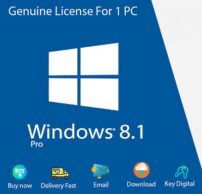 Windows 8.1 Professional 32/64-Bit License Genuine For 1PC Activation