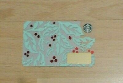 Starbucks Usa Coffee Plant 2018 Christmas Gift Card.no Value. Collectors Item