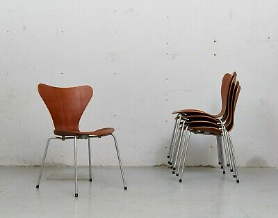 Arne Jacobsen Stuhl 3107 in Teak for Fritz Hansen, 60er I 1 von 4