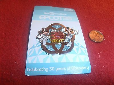1 Disney 3D 30 Years Epcot Pin with Mickey Minnie New on card  As Seen lot Y