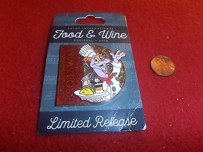 1 Disney LR 3D Epcot Pin Chef Figment Food & Wine New on card  As Seen lot Y