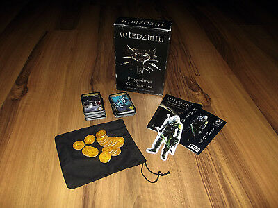 The Witcher Adventure Card Game - BOARD GAME !! RARE!! 2 DECKS CARD GAME !!