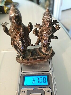 Antique Indian/asian Silver Buddha Group. Old.
