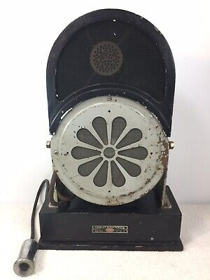 Antique Rare Stanley & Patterson Faraday USA Microphone Speaker Intercom