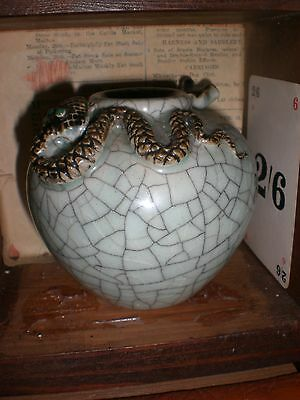Vintage Chinese Bowl With Snake And Mouse - Superb Condition