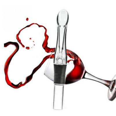 Acrylic Red Wine Aerator Pour Spout Bottle Aerating Decanter Pourer Tools DS