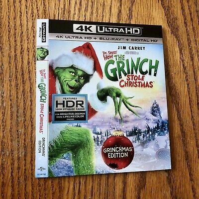 How the Grinch Stole Christmas Dr Seuss 4K Slipcover Only! See Description
