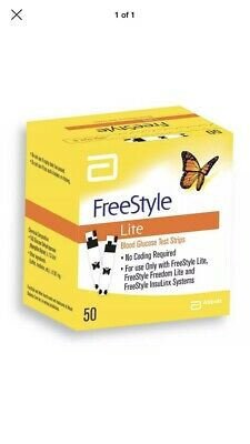 2 BOXES OF 50 Freestyle Lite Blood Glucose Test Strips (100 In Total) 11/2019