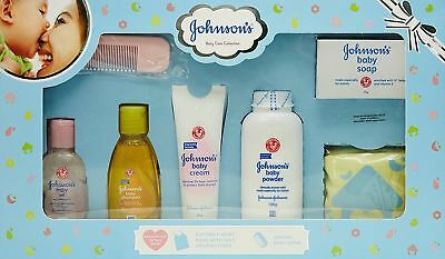 Johnson's Baby Care Collection kit with Organic Cotton Baby Tshirt (7 Gift Item)