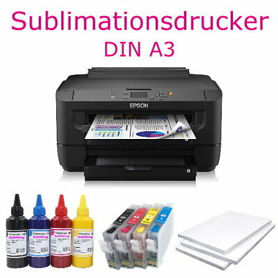 DIN A3+ Sublimationsdrucker T-Shirt Drucker + CISS + SubliKing® XXL Tintenset