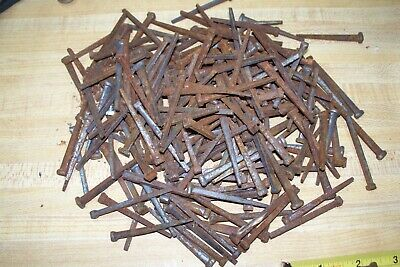 nails hand forged square head nails 2 1/4 ...3.5 lbs unused...