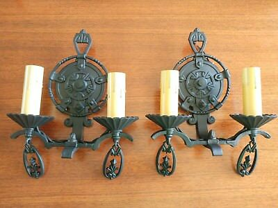 Pair of Spanish/Gothic Lincoln #1880 Sconces - Refurbished and Ready to Use!